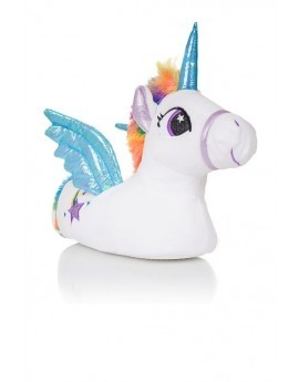 Trixie Novelty White & Multicoloured 3D Unicorn Slippers