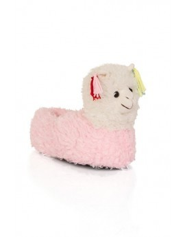 Llama Slippers With Tassels