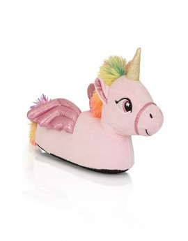 Pink Winged Unicorn Slippers