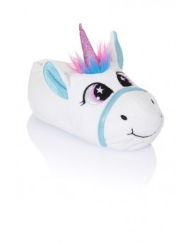 Jezebel White Unicorn Slippers