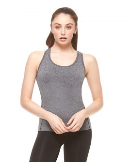 Grey Marl Racer Back Fitness Vest