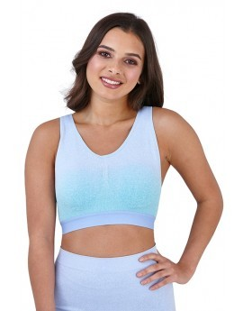 Blue Ombre Seamless Bra Top