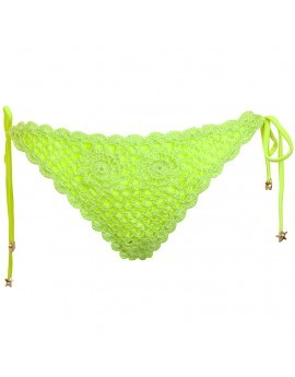 Polly Crochet Tie Side Brief- Lime