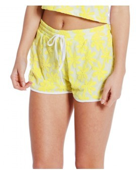 Genevieve Lemon Flower Lace Shorts