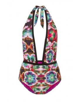 Mariana Electric Lily Deep Plunge Swimsuit