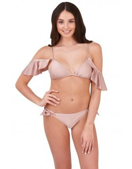 Harper Mink Cold Shoulder Triangle Bikini Set