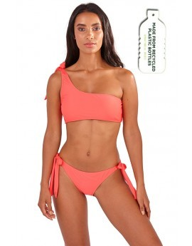 Maya Coral One Shoulder Bikini Set