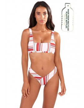 Alexandra Stripe Print Square Neck Bikini Set
