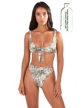 Gracey Safari Print Tie Front Bikini Set