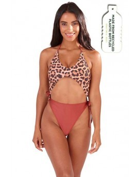 Maeve Leopard Print Cut Out Swimsuit