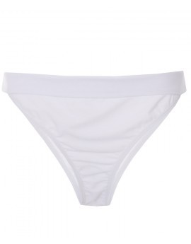 Petra Fold Top Bikini Brief- White