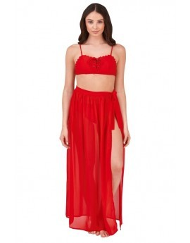 Boutique Red Wrap Beach Sarong