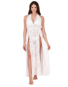 Boutique White Lace Maxi Beach Dress