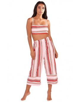 Stripe Tie Back Beach Co-ord Set