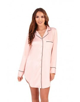 Loungeable Nude Pink Satin Night Shirt