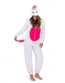 Loungeable White 3D Novelty Unicorn Onesie