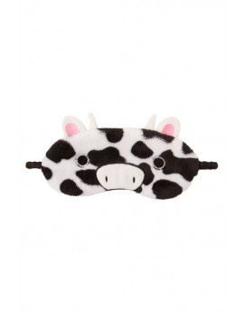 Black & White Cow Print Novelty Eye Mask