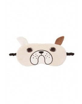 Beige French Bulldog Novelty Eye Mask