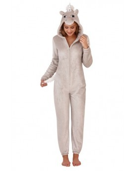 Loungeable 3D Novelty Silver Sparkle Unicorn Onesie