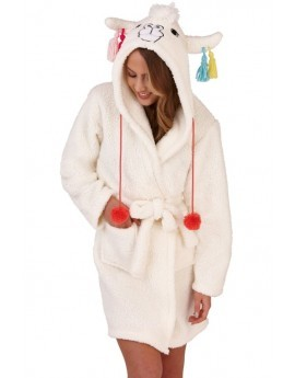 Llama 3D Robe With Tassel Trims