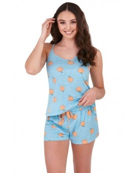 Loungeable Blue Peach Print Pyjama Set