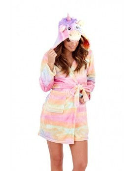 Loungeable Rainbow Novelty Unicorn Robe