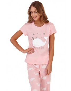Loungeable Pink Narwhal Dream Big Pyjama Set