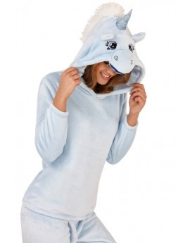 Blue 3D Hood Unicorn Twosie / PJ Set