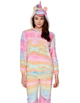 Rainbow 3D Hood Unicorn Twosie / Pyjama Set