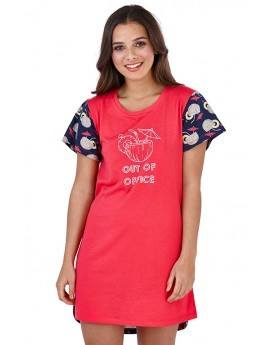 Loungeable Out of Office Slogan Nightshirt