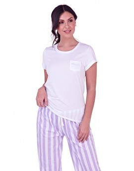 Loungeable Princess T-Shirt & Stripe Pyjama Set