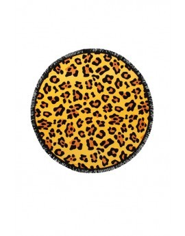 Animal Print Round Beach Towel