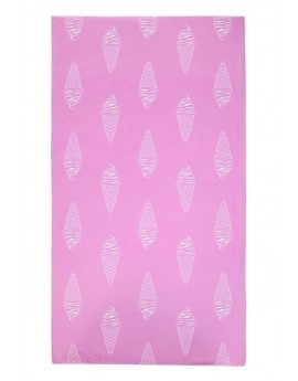Pink Ice Cream Print Towel