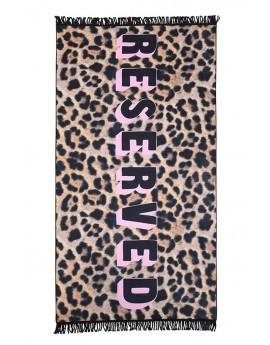 Reserved Slogan Animal Print Microfibre