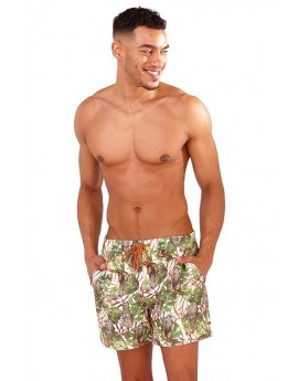 Recycled Safari Print Swim Shorts