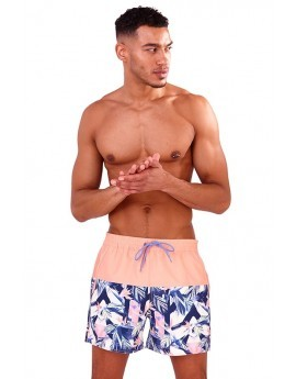 Recycled Half Bird Of Paradise Print Swim Shorts