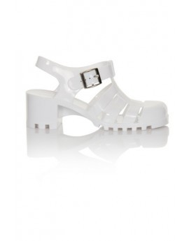 White Heeled Jelly Shoe