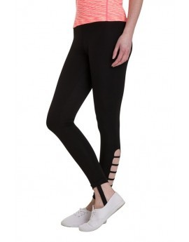 Black Cut Out Stirrup Fitness Leggings