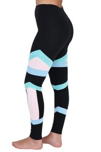 Colour Block Bandage Fitness Leggings