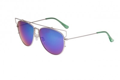 Blue Flash Mirror Aviators